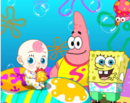 Spongebob and Patrick babies nevelde játékok
